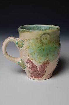 Mug with squirrel.