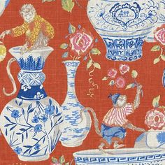 Captivating chilipepper asian decorator fabric by Duralee. Item DP61305-716. Best prices and free shipping on Duralee fabrics. Always first quality. Over 100,000 luxury patterns and colors. Width 54 inches. Swatches available.