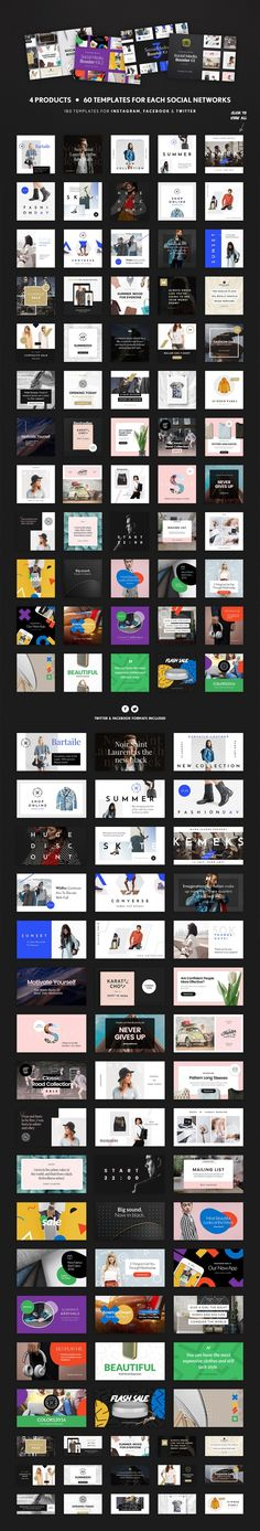 Social just got easier thanks to this fabulous Social Media Booster Bundle! The package includes 60 PSD templates designed natively for Instagram, Twitter and Facebook. Easy customize thanks to Smart Objects highly organized layers, these templates are perfect for bloggers, fashion and retail brands, magazines and so much more! Get all 60 Photoshop templates for only $19!