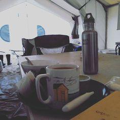 Foggy breakfast at field camp. #monomoy http://ift.tt/20b7rle