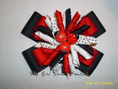 ladybug hair bows instructions   ... Hair Bow Instructions--Learn how to make hairbows and hair clips, FREE