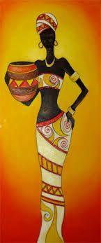 negras africanas en madera con disenos de frutas en la cabeza - Buscar con Google
