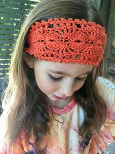 Crochet boho vintage style headband one size crochet boho