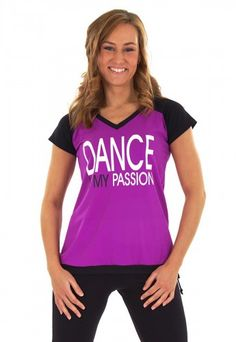 PIXIE Fitness shirt in Paars Microfiber