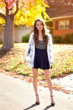 Sheinside Blue Skirt. Gorgeous.