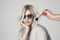 Weiss wearing the shades 'Into the Gloss' designed for Warby Parker. Photo: Warby Parker