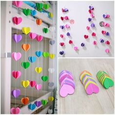 Details about Heart Paper Garland Bunting Banner Party Wedding Baby Shower Decorations Hanging Paper Flowers, Tissue Paper Garlands, Paper Heart Garland, Wedding Ceiling, Garland Wedding, Party Wedding, Star Wedding, Wedding Decoration, Bunting Banner