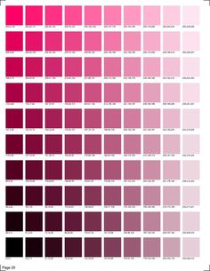 30 pages of RGB codes ready to print for color matching in smooth transitions. Pantone Color Chart, Pantone Colour Palettes, Color Charts, Pink Color Chart, Skin Color Palette, Color Palate, Rgb Color Codes, Color Palette Challenge, Colors And Emotions