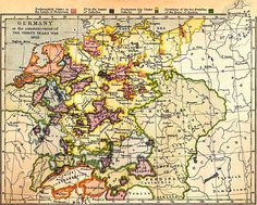 Bilderesultat for germany map History Of Germany, Thirty Years' War, World Globes, Old Maps, Historical Maps, Cartography, Ancestry, 18th Century, City Photo