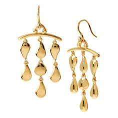 DIANE VON FURSTENBERG Gold Plated Mobile Earrings