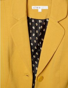 Cleo - Button Front Blazer #mustard #fall #trends