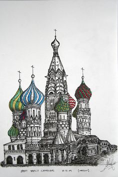 Saint Basil's Cathedral by quirkyquirks, via Flickr