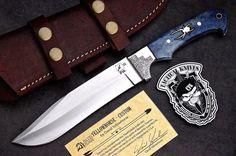 CFK IPAK USA DAVID YELLOWHORSE Custom D2 Large Camel Bone SPIDER Hunting Knife   eBay