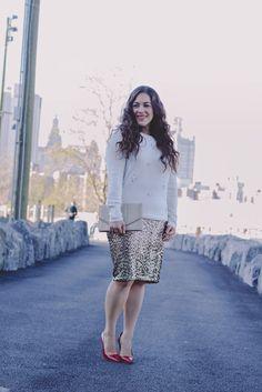 Oasis Sequin Pencil Skirt - A Sequin Love Affair