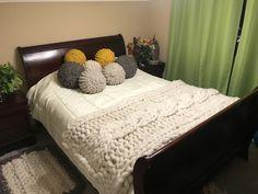 Manta xxl pie de cama chunkywool wool tejido xxl - Cubrepies de cama ...