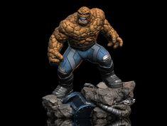 "ArtStation - Ben Grimm ""The Thing"", Earl Vincent Kasilag Figure Poses, Fantastic Four, Marvel Art, Grimm, Iron Man, Sculpting, Action Figures, Sculptures, Animation"