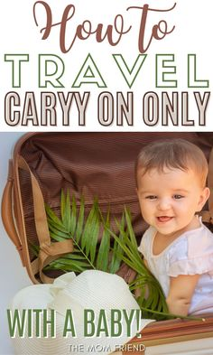 Travel with kids doesn't have to be overwhelming. Start by using these tips to pack light for travel with kids, including planning a capsule wardrobe. How to travel carry-on only with a baby: A guide to packing light | The Mom Friend | themomfriend.com Traveling With Baby, Travel With Kids, Family Travel, Travel Wardrobe, Capsule Wardrobe, Flying With A Baby, Baby Due, Pack Light, Family Vacation Destinations