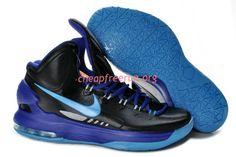 new arrival 16fb9 3a366 Black Purple Blue Nike Zoom KD V 554988 003 Kevin Durant Basketball Shoes,  Nike Zoom