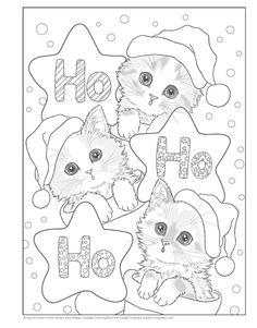 Santa's Kitty Helpers Holiday Coloring Book (Design Originals): Kayomi Harai: Cat Coloring Page, Coloring Pages To Print, Coloring Book Pages, Coloring Pages For Kids, Colouring, Kids Coloring, Christmas Kitten, Christmas Drawing, Christmas Coloring Sheets