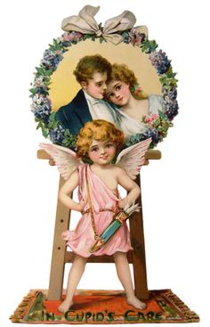 Romantic Cupids Care Vintage Valentines Day free printable from ALTERED ARTIFACTS