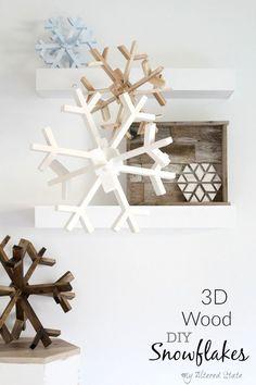 DIY Wood Snowflakes 3D