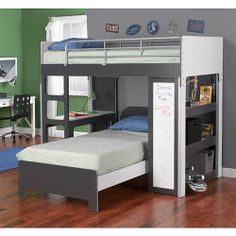 "Rack Furniture Harvard Bunk Bed - White/Charcoal - Rack Furniture - Toys ""R"" Us"