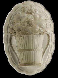 Josiah Wedgwood and Sons - Jelly Mould. Ironstone. Staffordshire, England. Circa 1800-1820.