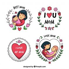 Discover thousands of copyright-free vectors. Graphic resources for personal and commercial use. Thousands of new files uploaded daily. Mothers Day Decor, Mothers Day Quotes, Mothers Day Crafts, Mothers Love, Mother And Child Drawing, Mother Daughter Art, Mother Art, Love U Mom Quotes, I Love Mom