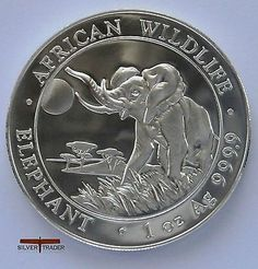 The 2016 #somalian elephant unc: 1 oz troy ounce fine #silver coin #bullion, View more on the LINK: http://www.zeppy.io/product/gb/2/171997165562/