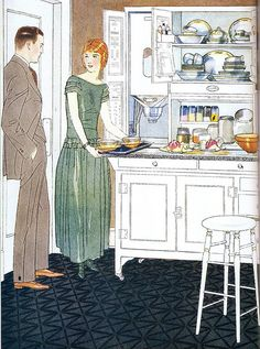 Sellers Kitchen Cabinets, 1924 -- there's actually something kind of contemporary about look and feel of this ad
