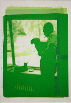 «Les archives de Monsieur X», Genval, villa Lerrinckx 07-67 2004-2005, 36 x 47 cm, collage sur transparents espacé