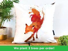 Baby Girl Nursery Bedding, Fox Nursery, Woodland Nursery Decor, Kuta, Fox Pillow, Fox Illustration, Small Pillows, Christmas Gifts For Kids, Animal Pillows