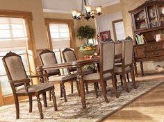 7-pc San Martin Rectangular Leg Dining Table Set, Ashley, San Martin