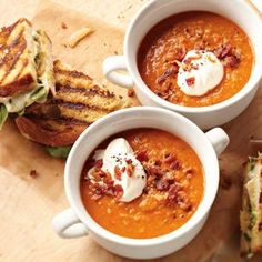 Smoky Lentil Soup with Grown-Up Grilled Cheese Sandwiches | Williams-Sonoma