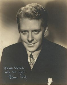 Double weight, original, vintage, signed photo of Nelson Eddy - ESCANO COLLECTION
