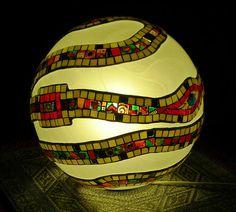 my work, mosaic Spiral Sphere (3) by elviraZ, via Flickr