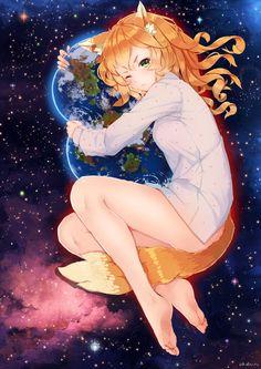 Firefox-тян Художник - fangxiang cuoluan