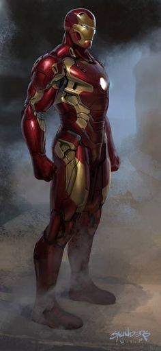 unused Iron Man Mk 45 design by Phil Saunders