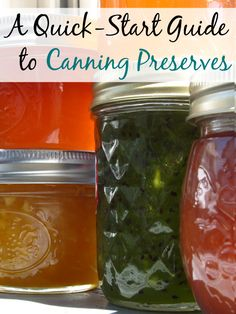 A Quick-Start Guide to Canning Preserves