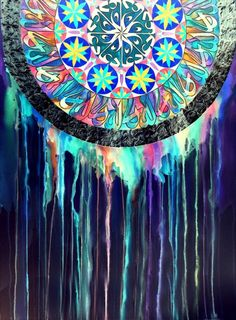 Kinda cool when you think about it, because originally mandalas were meant to be created and then destroyed to illustrate the impermanence of everything. I like the symbolism.
