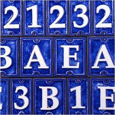 Ecco Ceramic Number Tiles