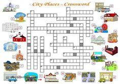 CITY PLACES - CROSSWORD