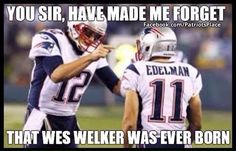 Wes who? Patriots fans have very short memories, out of necessity!