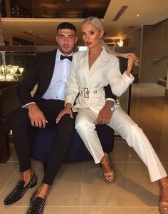 Love Island Molly-Mae and Tommy Fury Molly Mae shared a very pouty pic as the couple prepared Couple Chic, Classy Couple, Elegant Couple, Matching Couple Outfits, Matching Couples, Night Outfits, Cute Outfits, Fashion Outfits, Cute Couples Goals
