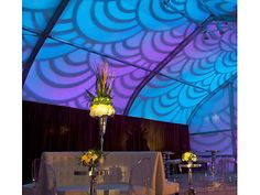 Beautiful pattern lighting on an event tent by Got Light.