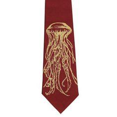 Jellyfish Necktie Burgundy now featured on Fab.