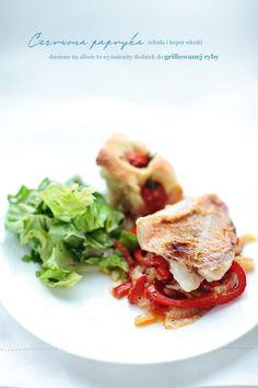 Karmazyn z duszonym koprem włoskim i czerwonąpapryką