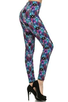Multi Geometric Print leggings - Arrow Trends
