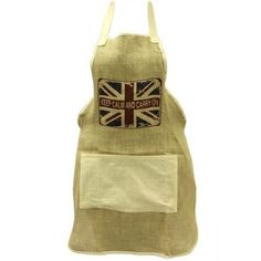 Soft Jute Apron - Keep Calm & Carry On