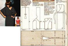 Ideas para el hogar: Molde costura Bata